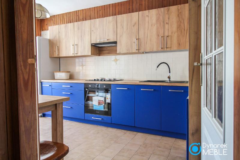 Kuchnia niebieskie fronty
